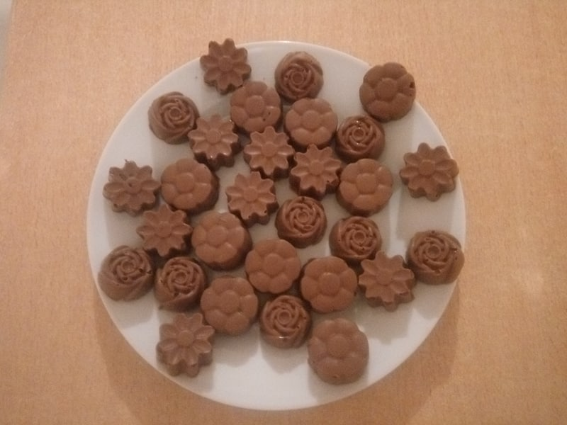 Recette de chocolats garnis