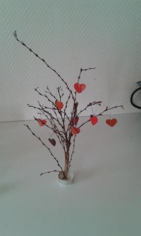 Centre de table recyclé pour la Saint Valentin