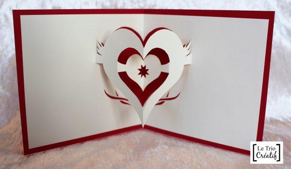 Carte Coeur En Kirigami Le Trio Créatif