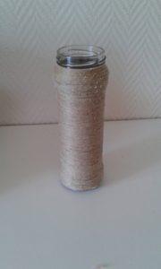 recycler un pot en verre décoré avec de la corde ou ficelle