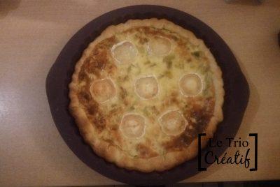 Recette de la tarte aux poireaux lardons et fromage de chèvre