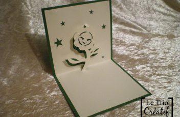 carte fleur kirigami