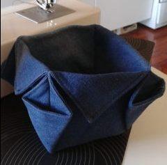 Panier en tissu