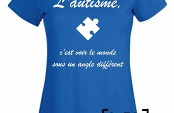 t-shirt autisme f