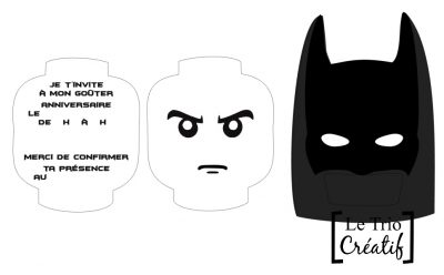 carte d'invitation lego batman