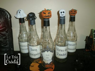 étiquettes de bouteilles pour Halloween