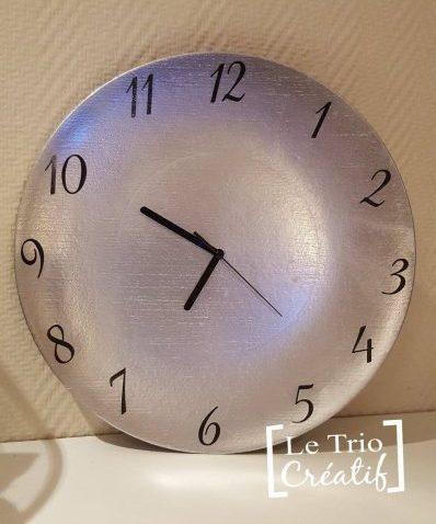 Faire une horloge avec du matériel recycle