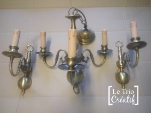 customiser un vieux lustre