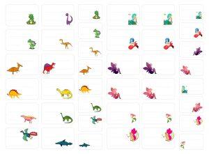 étiquettes dinosaures, sirènes et fées